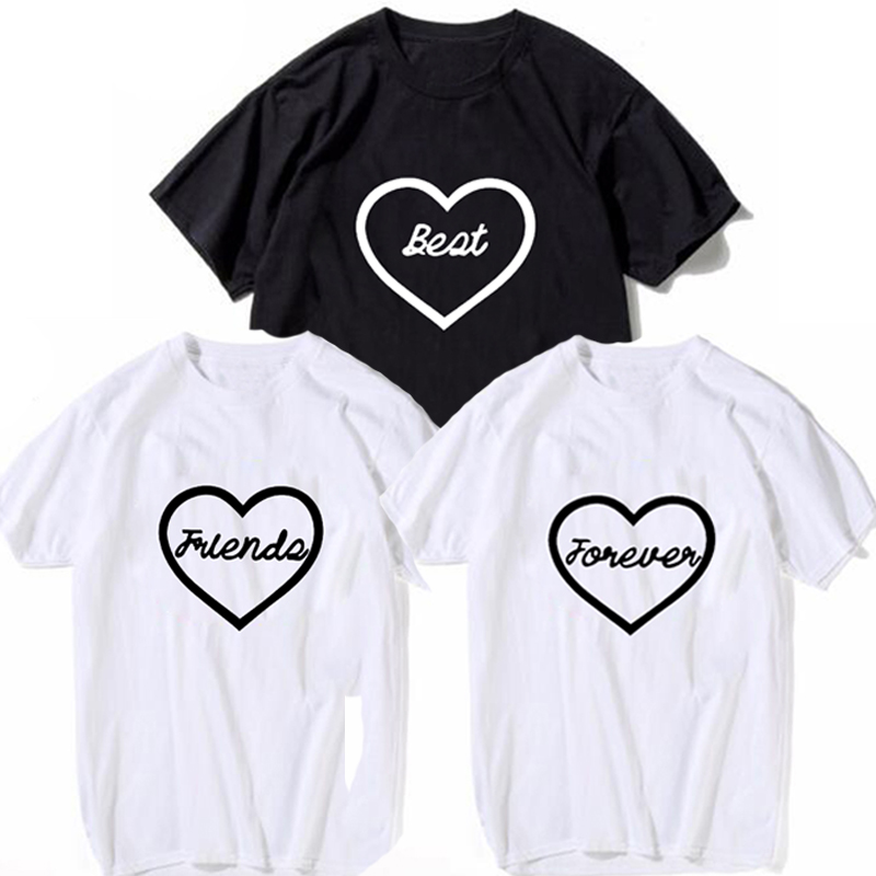 2f5edfa0b Detail Feedback Questions about fashion Cute Heart Printed T shirt lover t  shirts Best Friend Forever Tee Shirt Women Harajuku Casual Tops Female T  shirt ...