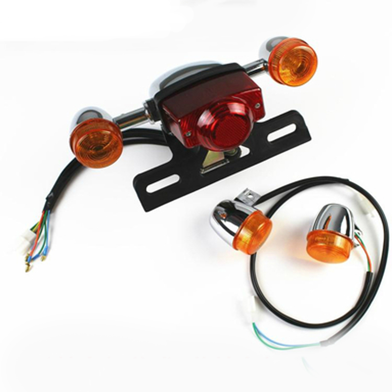 Electric Motorcycle Accessories Scooter Front Direction Steering Lamp Tail Lamp Lights And Turn Into