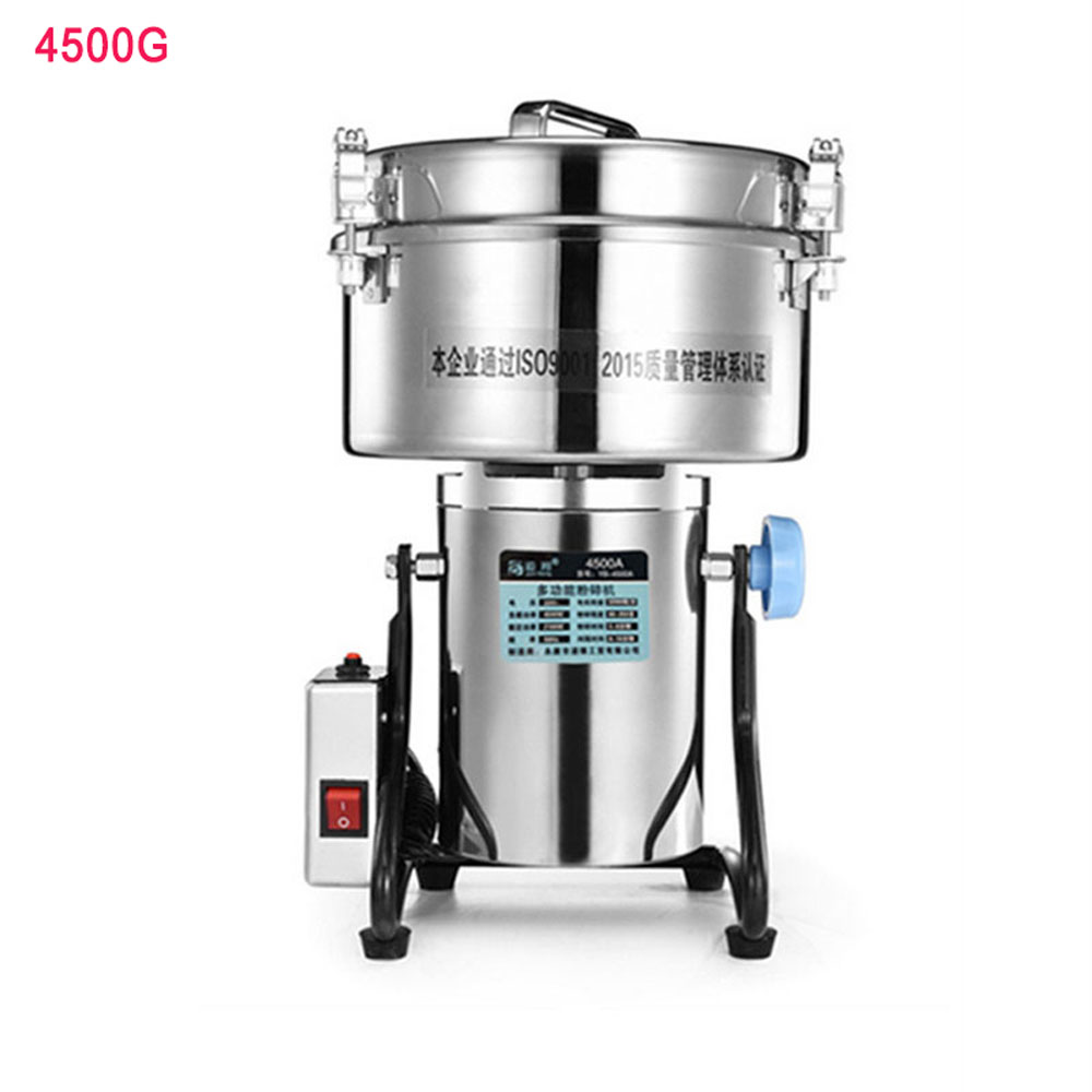 4500G Stainless Steel Food Grinder Electric Dry Coffee Bean Nut Spice Grinding Mill Powder Crusher Commercial