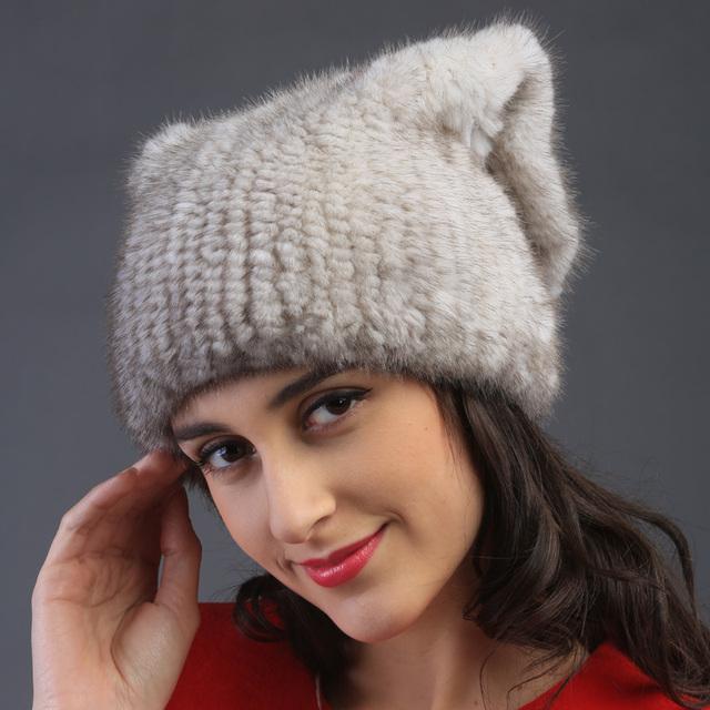 Mulheres Rex genuína mink fur muffs cap coelho Rex outono inverno quente Super linda ouvido lady luxur chapéu de pele cabelo cinto banda