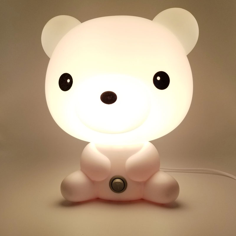 Bright Bear LED Night Lights Cartoon Animal Light EU Nursery Sleeping Baby Bedroom Bulb Lamp with Gifts