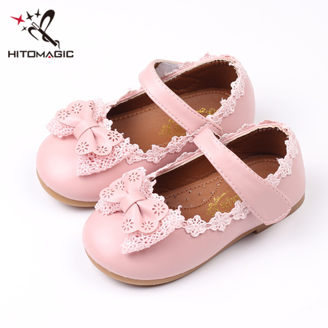 0c9d27efc92e HITOMAGIC Baby Girls Shoes For Children Shoes Princess Bow-knot Lace  Leather For Party Wedding Kids Moccasins Summer Footwear