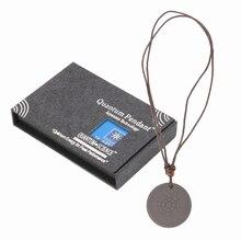 Модные Quantum скалярной энергии Мощность кулон Цепочки и ожерелья M-блеск здравоохранения вулканического камня для мужчин, мужская бижутерия, A10_20