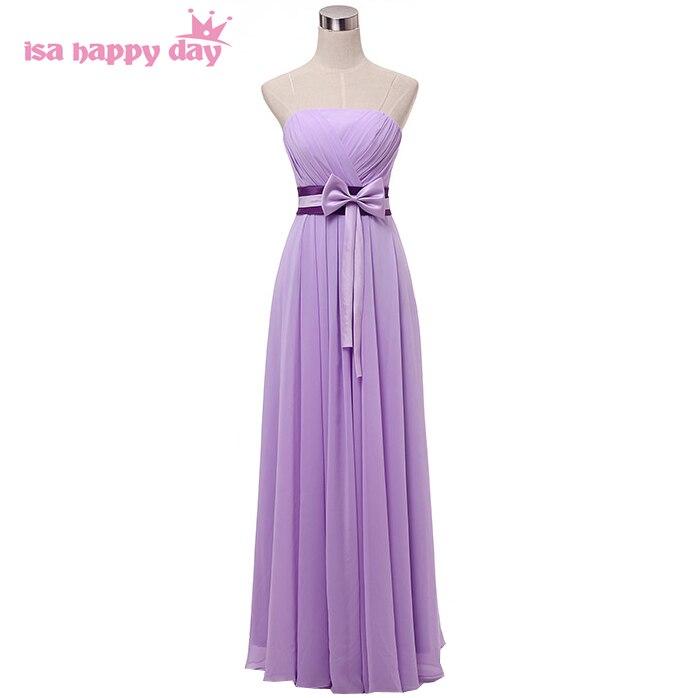 Longue élégante grande taille femmes lilas col en v en mousseline de soie robes de bal ajustées 2019 moins de $50 robe formelle pour les occasions de mariage W2742