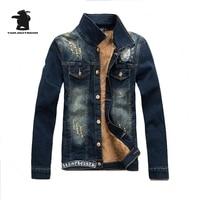 Brand New Winter Men S Denim Jacket Fashion Plus Size Fleece Thick Casual Denim Jacket Coat