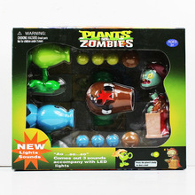 New Plants VS Zombies PVZ Figure Toys Coconut +Agriculture Gun Zombies Action Figures Toy Dolls With Light & Sounds Great Gift(China)