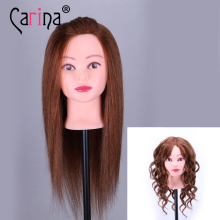 Mannequin Head Hair Brown Training Head Maniqui Hairdressing Doll Heads Hairdresser Manik Wig Head