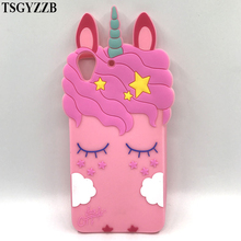 For Huawei Y6 II 2 Y6II Capas Cute 3D Silicone Pink Horse Unicorn Cartoon Soft Back Cover Case Honor 5A Funda