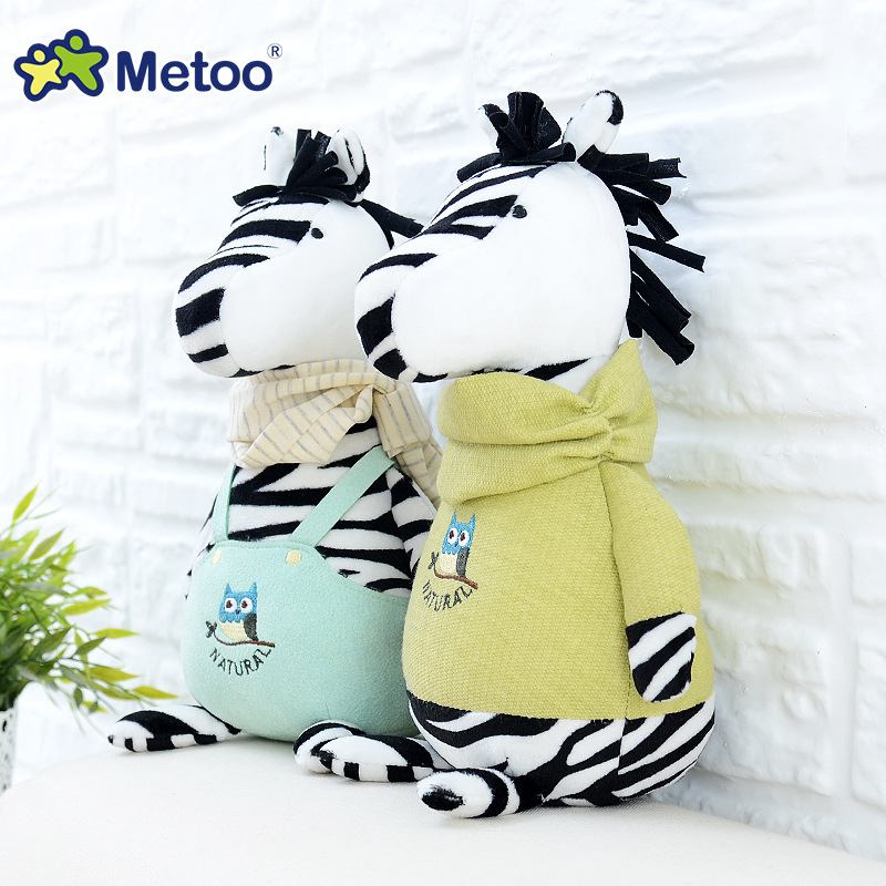 Kawaii Plush Stuffed Animal Cartoon Kids Toys for Girls Children Baby Birthday Christmas Gift Zebra Sheep Rabbit Metoo Doll stuffed dog plush toys black dog sorrow looking pug puppy bulldog baby toy animal peluche for girls friends children 18 22cm