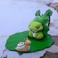 Travel frog pvc Model Figure cute Mobile Phone Holder Android Games Kids Toys(China)