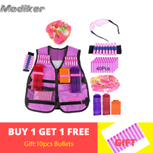 for Nerf N-strike Elite Serie Girl Women Tactical Military Equipment Kit Bandolier Soft Bullets Clips Wristband Strap Target Bag new tactical vest kit safety vests adjustable with storage closing pockets fit for nerf n strike elite team games hunting vest