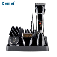 Kemei590A 7 in 1 multifunction rechargeable Grooming Beard Hair Shaver Men's Razor Trimmer Kit
