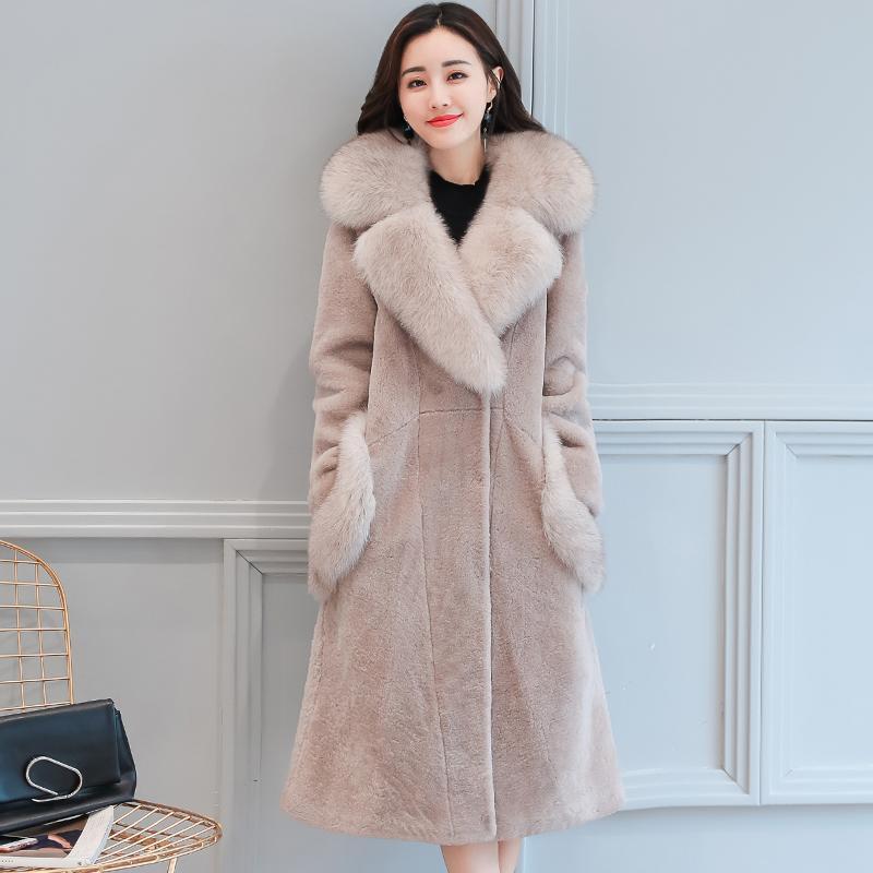 Simplee Vintage moelleux fausse fourrure manteau femmes longue fourrure vêtements de sortie d'hiver rose manteau 2017 automne décontracté fête pardessus