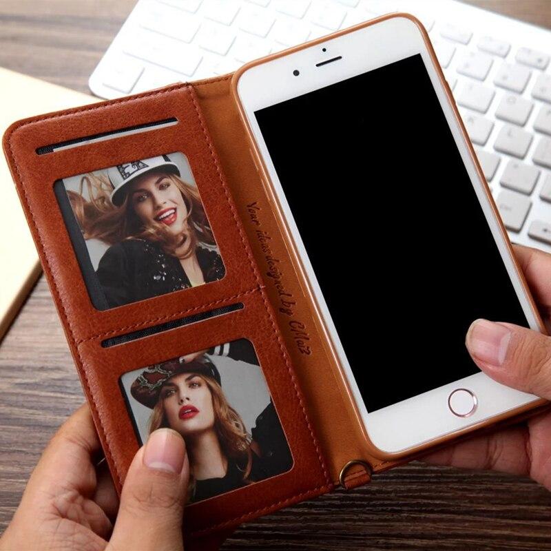 For iphone 11 Case Flip Wallet PU Կաշի կափարիչ iphone 6 6s - Բջջային հեռախոսի պարագաներ և պահեստամասեր - Լուսանկար 2
