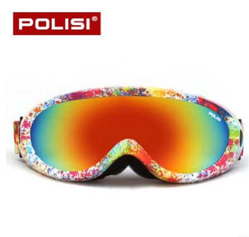 POLISI Для мужчин Для женщин Зимний спорт на открытом воздухе снегоход сноуборд Скейт лыжные очки UV400 мотоциклетные очки Анти-туман Лыжный Спо...