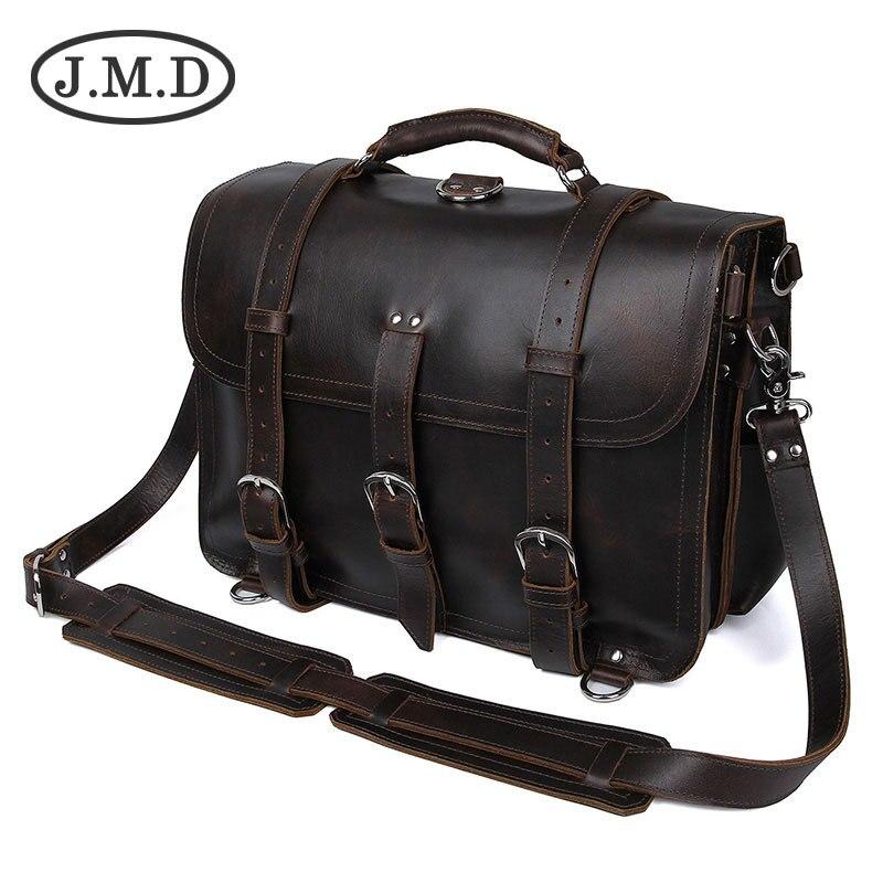 J.M.D 100% sac à dos pour hommes en cuir véritable Crazy Horse sac de voyage sac à bandoulière sac à main sac à main 7072B