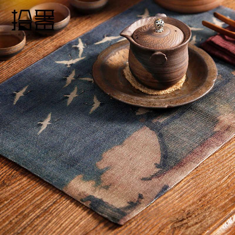 Vtage салфетка Чайный подстаканник подставки под Кружки чайные салфетки чайные полотенца держатель чашки кухонный чай аксессуары украшения