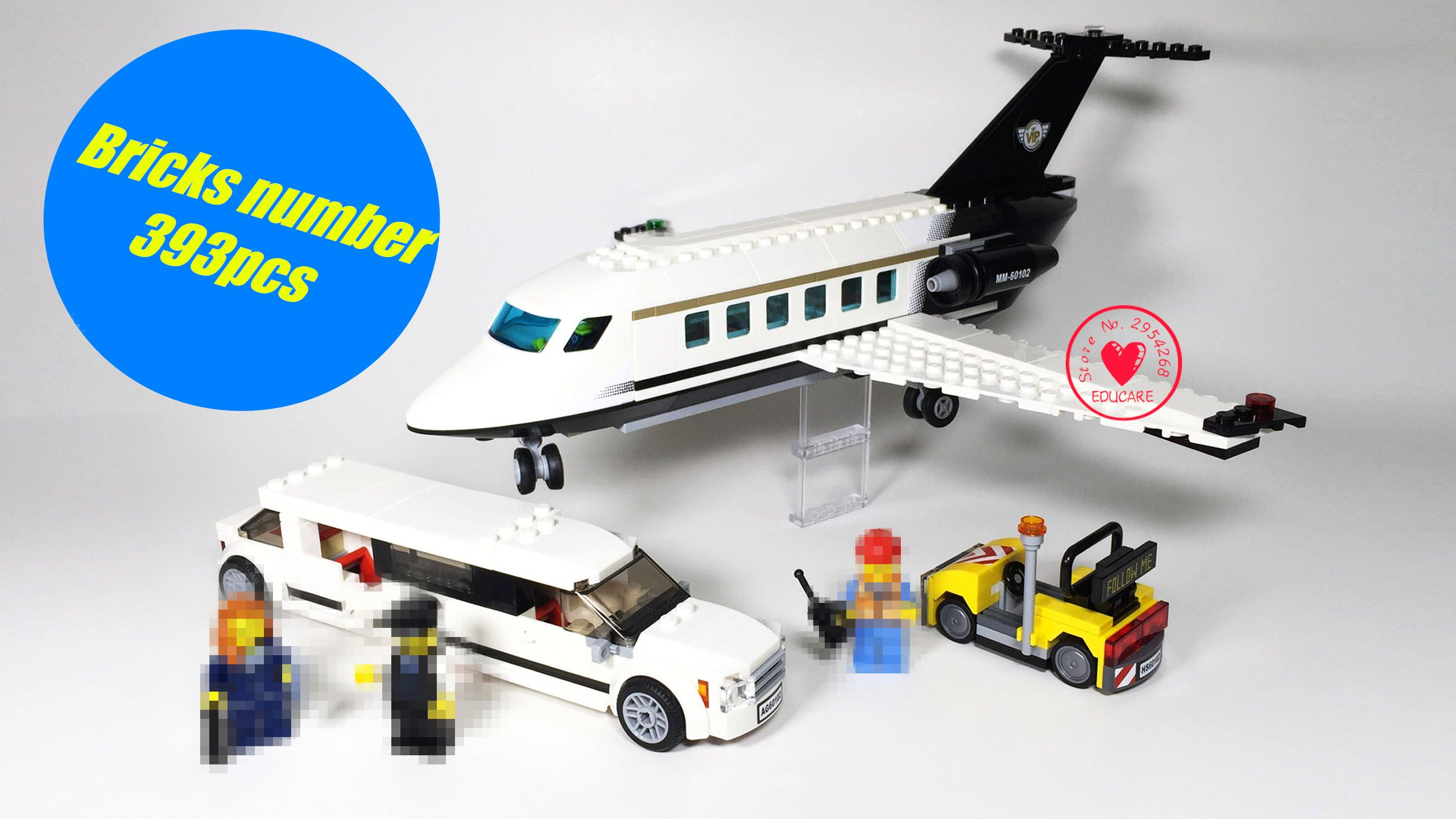 Lepin 02044 New Genuine City Series Airport VIP service model Building Blocks Bricks Educational Toys for Children gifts 60102 1710 city swat series military fighter policeman building bricks compatible lepin city toys for children