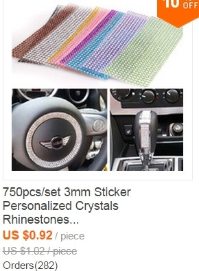 Rhinestones sticker