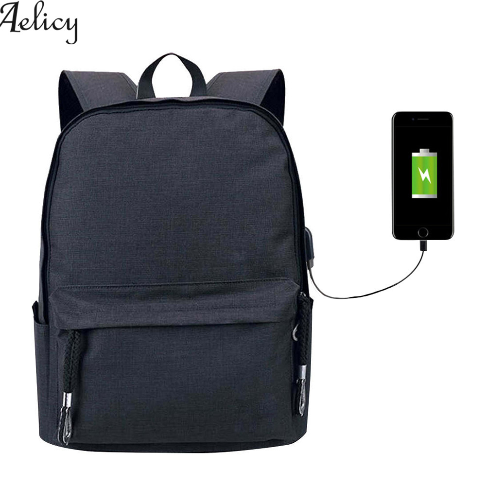 Aelicy canvas backpack for teens 2 Colors Casual Back Pack Large Capacity male Canvas Bagpack High Quality Backpacks Bag 2018 ...