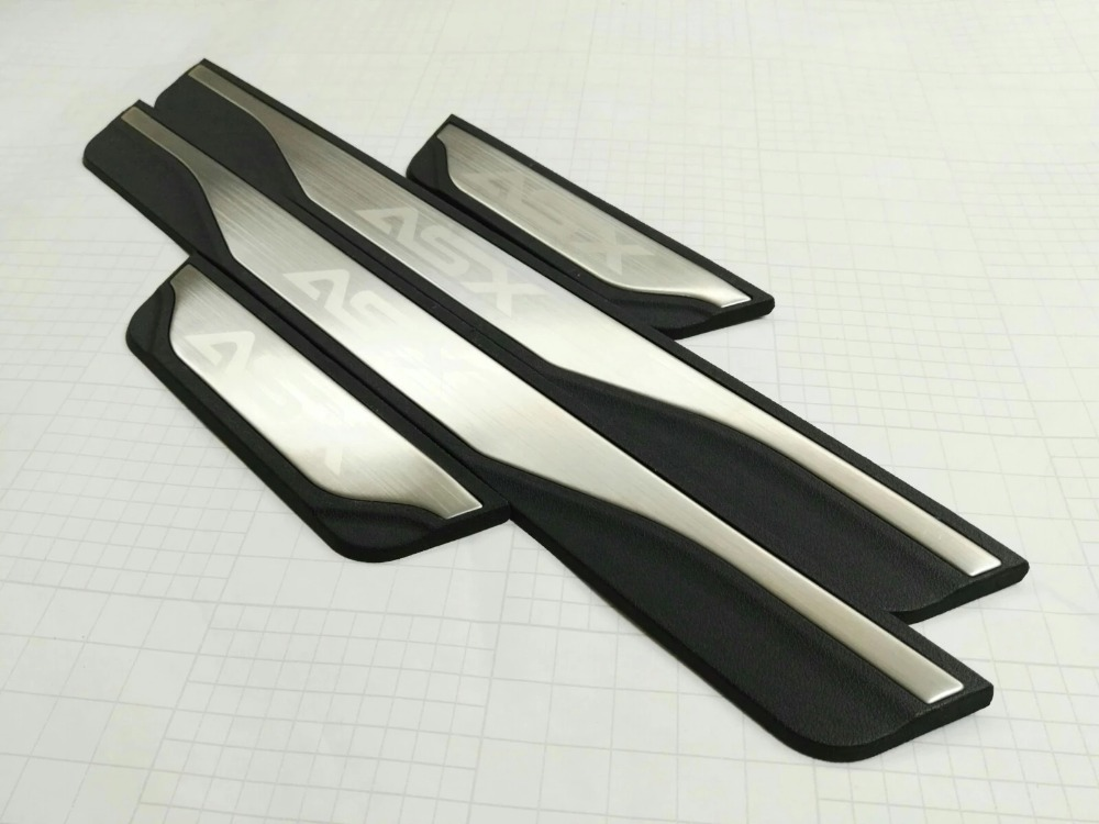 Stainless Steel Original Version Door Sill Scuff Plate Welcome Pedals For MITSUBISHI ASX 2015 2016 2017 Car Styling Accessories 2016 car styling stainless steel handbrake sequined internal decoration for mitsubishi asx 2015