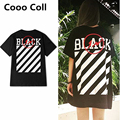 Fashion 2017 New Kanye West lightning OFF WHITE BLACK O-neck Justin Bieber T-shirts T shirt  top Tee 3Colors Cooo Coll