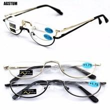c9fcf6ee10 Agstum Half Moon Mens Women Vintage Spring Hinge Eyeglasses Reading Glasses  +1 +2 +