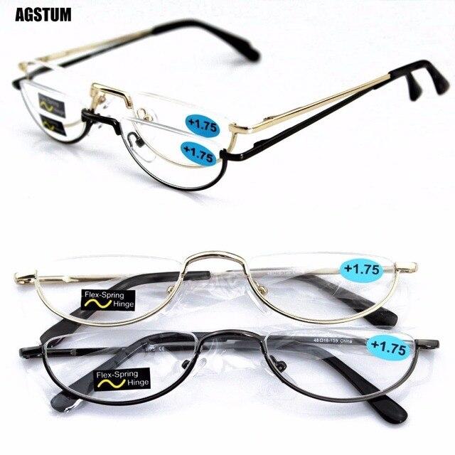 5aed1a7eca6 Agstum Half Moon Mens Women Vintage Spring Hinge Eyeglasses Reading Glasses  +1 +2 +3 +4