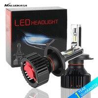 MALUOKASA 2PCs T8 H7 H11 LED Car Headlight ZES Chip H4 Hi Lo Beam 9004 9005