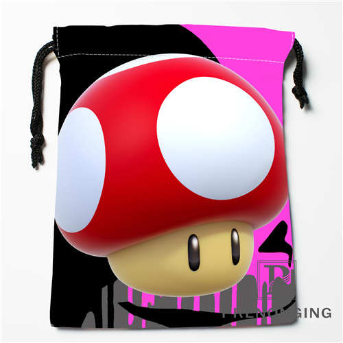Custom Cartoon Mushroom Drawstring Bags Printing Fashion Travel Storage Mini Pouch Swim Hiking Toy Bag Size 18x22cm 171203-04-07