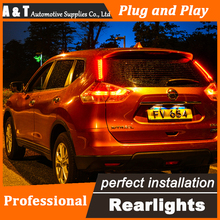 Car Styling LED Tail Lamp for Nissan X-trail Taillights 2014 Rouge Rear Light DRL+Turn Signal+Brake+Reverse auto Accessories
