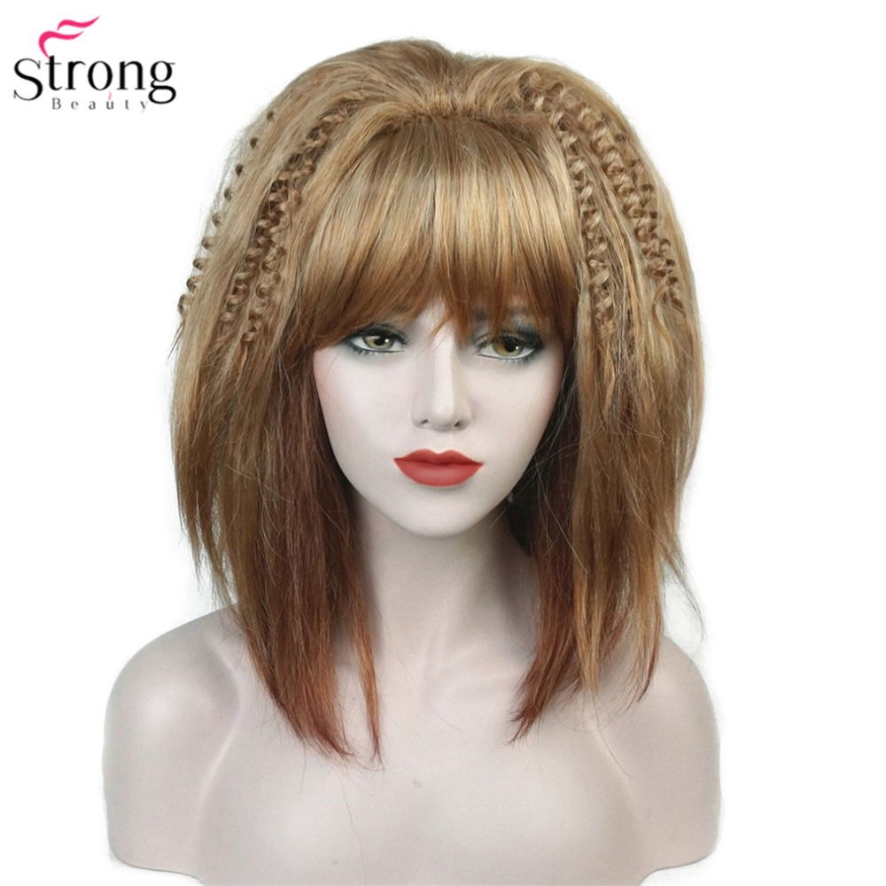 Synthetic Wigs Generous Inhair Cube Natural Straight Synthetic Heat Resistant Fiber Long Ombre Light Brown Hair Salon Inclined Bangs Hairpiece Hair Extensions & Wigs