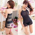 Women harness a corset hip package ultrashort sexy transparent gauze sexy underwear Nightgown adult temptations suit