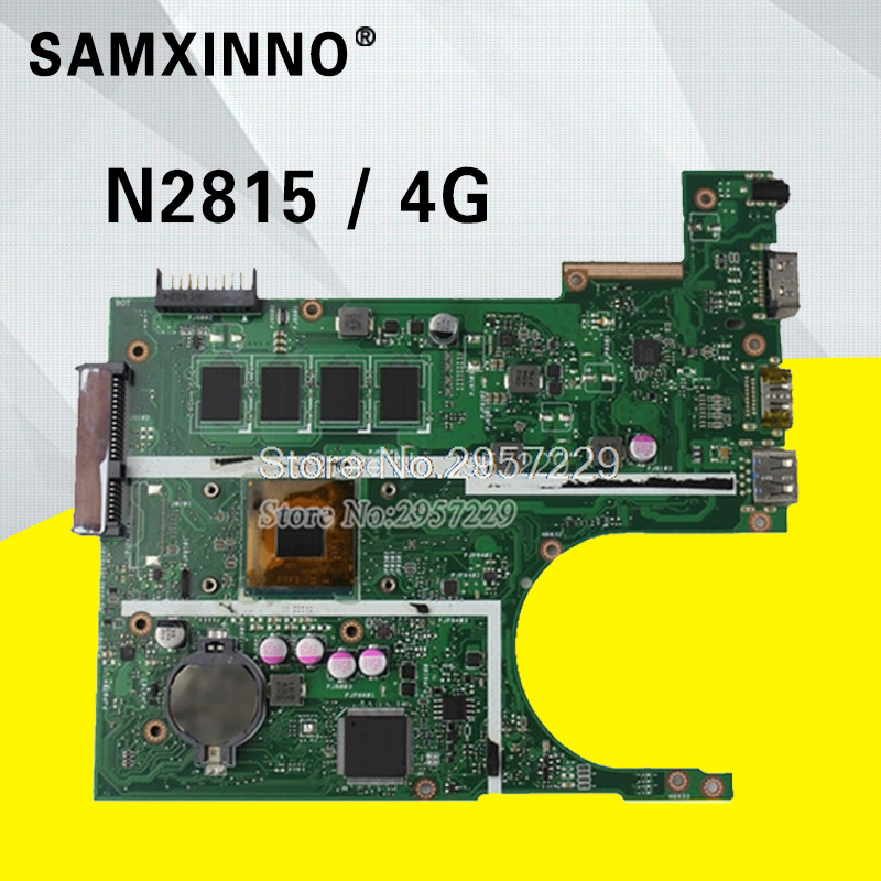 100% test Ok Original X200MA with N2815 4GB Laptop motherboard FOR ASUS X200M F200M X200MA mainboard Integrated fully test S-6 free shipping original laptop laptop motherboard for asus x200ma k200ma f200ma mainboard with n2815 cpu integrated fully test