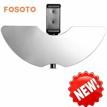 FOSOTO Ring Light Accessories Include Mirror Smart Phone Holder for Makeup Compatible with RL-18 Ring Light Lamp