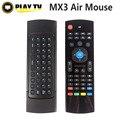 Оригинал 2.4 ГГц MX3 Мини Беспроводная Клавиатура С ИК Обучения Air Mouse Клавиатура Дистанционного Управления Для ПК Портативный Android TV коробка