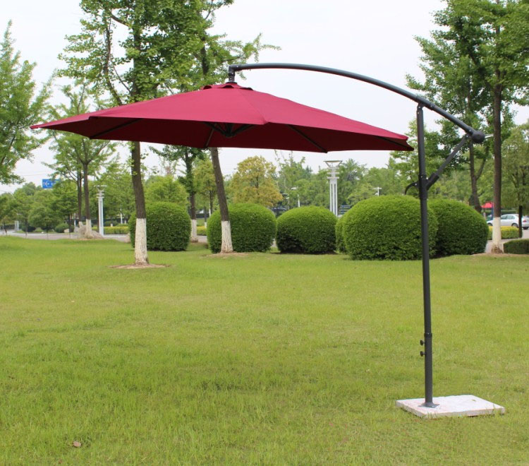 2.7 meter steel iron promotion patio sun umbrella garden parasol sunshade outdoor furniture covers ( no stone base ) 2 7 m outdoor umbrellas patio umbrella column banana straight with a hand of iron