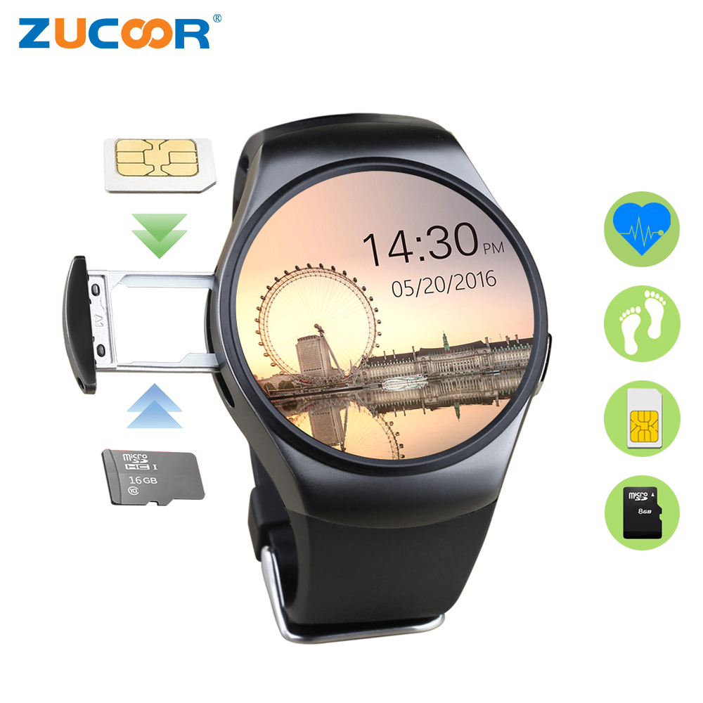 ZUCOOR Smart Watch Electronics Watches Smartwatch KW18 Touchscreen Fitness Tracker Pulse Monitor Calculator Men's Relogio Phone