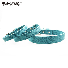 Grid Pattern Genuine Leather Dog Collar For Small Medium Large Dogs Unique Adjustable S M L Necklace Pet Products Accesorios