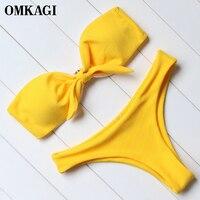 OMKAGI Brand Bikinis Set Swimsuit Swimwear Women Swimming Suit Female Sexy Push Up Bathing Suit Beachwear