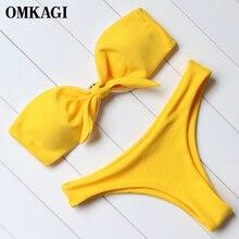 OMKAGI Brand Bikinis Set Swimsuit Swimwear Women Swimming Suit Female Sexy Push Up Bathing Suit Beachwear Brazilian Bikini 2018