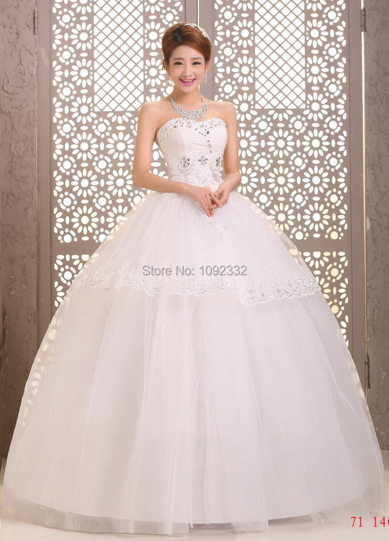 04650fecd589f z w 2016 new plus size bridal gown women wedding dress lace bandage simple  family look korean vestidos de noiva A56