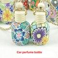 2 pcs Coloridos Enfeites de Argila Garrafas de Óleo Essencial de Carro Perfume Carro Perfume Garrafa Carro Perfume Decoração Veículo Atacado