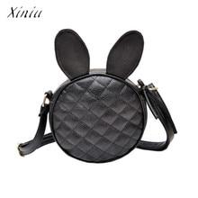 b90615ef737c Women Bag Girl Rabbit Ear Round Leather Crossbody Bags Womens Shoulder Bag  Ladies Cute Circular Handbag