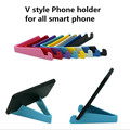 5 pcs/lot V style mobile Phone Stand Holder Desktop Universal Foldable holder stand for pad for all Smartphone&Tablet PC