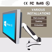 """12 """" all in one pc computers Five wire Gtouch TouchScreen PCs using high-temperature ultra thin panel with 2G RAM 160G HDD"""