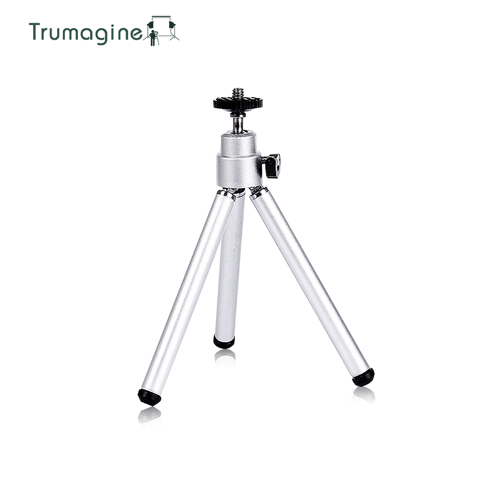 TRUMAGINE 1PCS Mini Tripod Aluminum Lightweight Tripod Stand Mount For Digital Camera Phone DV Tridpod 3 Tall Tripod + Clip