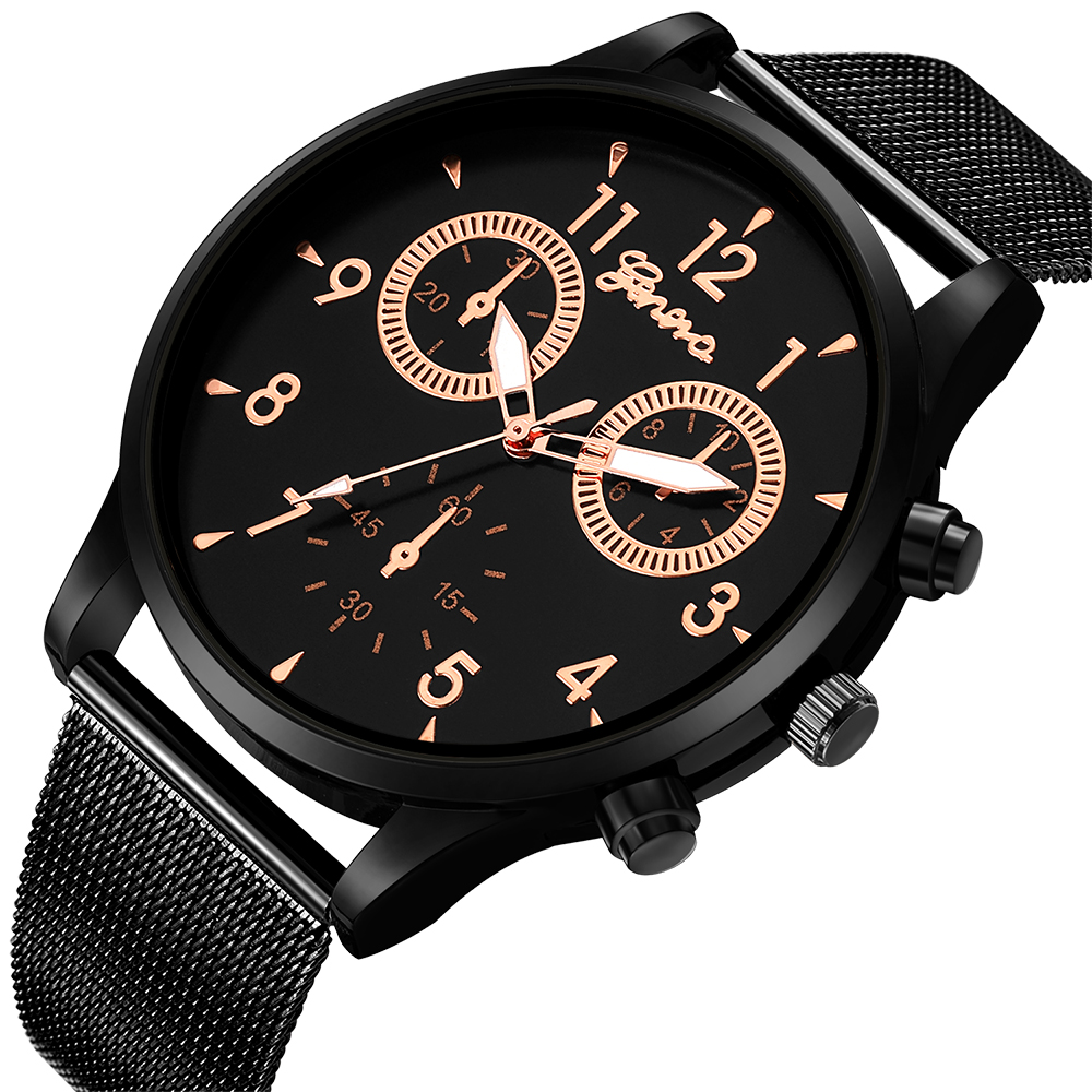 Famous Retro Design Mesh Strap Men Watches Top Brand Relogio Masculino 2018 New Clock Mens Sports Analog Quartz Wrist Watches top brand 2017 new mens sports clock watch retro design leather band analog alloy quartz wrist watches relogio masculino