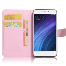 hot deal buy xiaomi redmi 4a case litchi texture leather case for xiaomi redmi 4a flip cover case 5.0 inch wallet stand style phone case