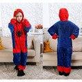 Novo 2016 Homem Aranha Crianças Conjuntos de Roupas de Flanela Onesie Spiderman Traje Do Partido Cosplay Crianças Spider-man Engraçado Pijama Conjuntos